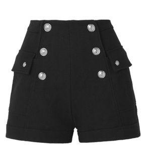 Balmain Embellished Cotton Shorts